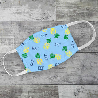 Kappa Kappa Gamma Pineapples Face Mask