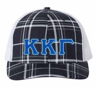 Kappa Kappa Gamma Plaid Snapback Trucker Hat - CLOSEOUT