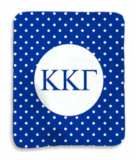 Kappa Kappa Gamma Polka Dots Sherpa Lap Blanket