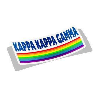 Kappa Kappa Gamma Prism Decal Sticker