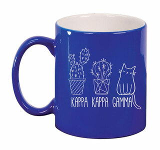Kappa Kappa Gamma Purrrfect Sorority Coffee Mug