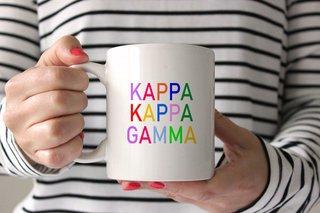 Kappa Kappa Gamma Rainbow Coffee Mug