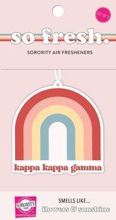 Kappa Kappa Gamma Rainbow Retro Air Freshener - Flowers & Sunshine Scent