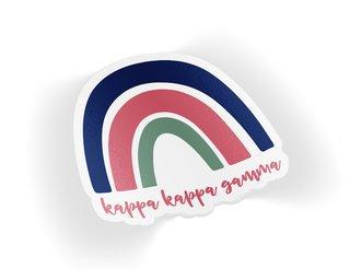 Kappa Kappa Gamma Rainbow Sticker