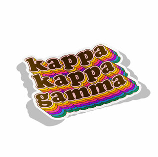 Kappa Kappa Gamma Retro Maya Decal Sticker