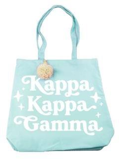 Kappa Kappa Gamma Retro Pom Pom Tote Bag