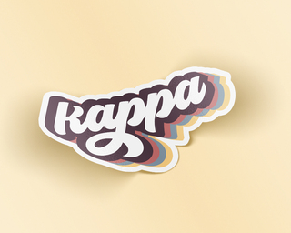 Kappa Kappa Gamma Retro Sticker
