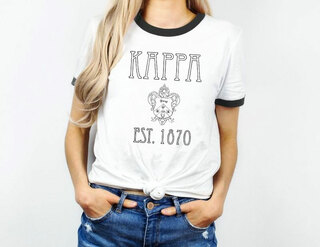 Kappa Kappa Gamma Rocker Ringer Tee