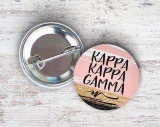 Kappa Kappa Gamma Rose Gold Button