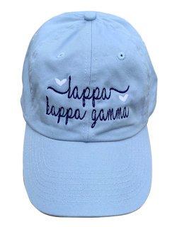 Kappa Kappa Gamma Script Hearts Ball Cap