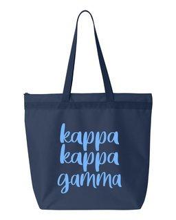 Kappa Kappa Gamma Script Tote Bag