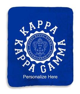 Kappa Kappa Gamma Seal Sherpa Lap Blanket
