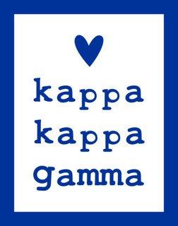 Kappa Kappa Gamma Simple Heart Sticker