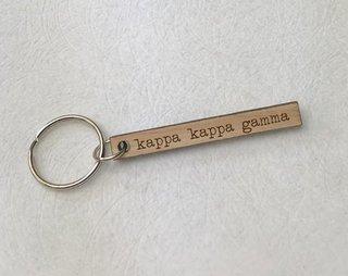 Kappa Kappa Gamma Skinny Keychain