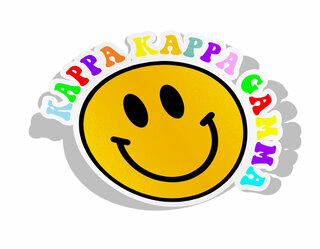 Kappa Kappa Gamma Smiley Face Decal Sticker