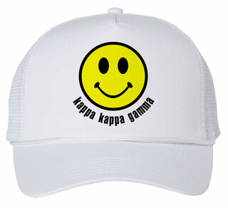 Kappa Kappa Gamma Smiley Face Trucker Hat