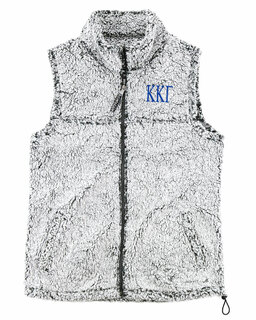 Kappa Kappa Gamma Smoky Grey Sherpa Vest