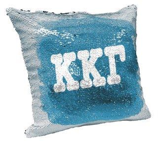 Kappa Kappa Gamma Sorority Flip Sequin Throw Pillow Cover