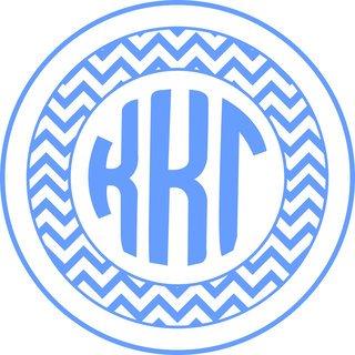 Kappa Kappa Gamma Sorority Monogram Bumper Sticker