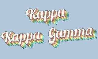 Kappa Kappa Gamma Sorority Retro Flag