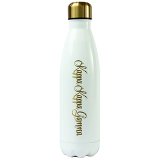 Kappa Kappa Gamma Stainless Steel Shimmer Water Bottles