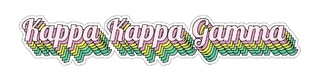 Kappa Kappa Gamma Step Decal Sticker