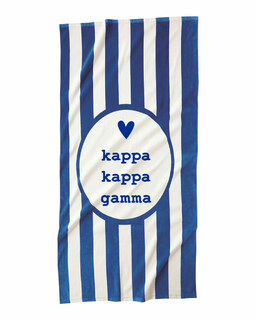 Kappa Kappa Gamma Striped Beach Towel