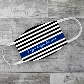 Kappa Kappa Gamma Stripes Face Mask