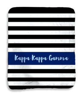 Kappa Kappa Gamma Stripes Sherpa Lap Blanket
