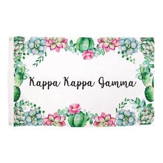 Kappa Kappa Gamma Succulent Flag