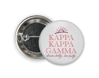 Kappa Kappa Gamma Sun Button