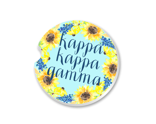 Kappa Kappa Gamma Sunflower Car Coaster