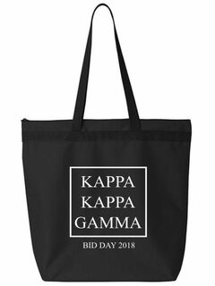Kappa Kappa Gamma Box Tote Bag