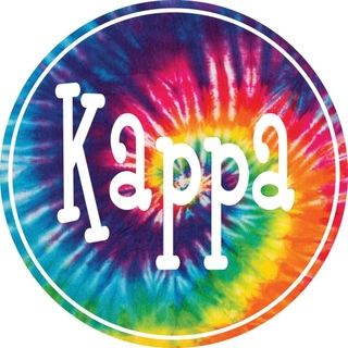 Kappa Kappa Gamma Tie-Dye Circle Sticker