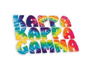 Kappa Kappa Gamma Tie-Dye Stack Sticker