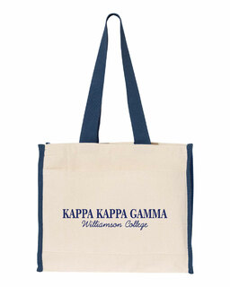Kappa Kappa Gamma Tote with Contrast-Color Handles