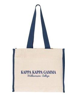 Kappa Kappa Gamma Tote with Contrast-Color Handles