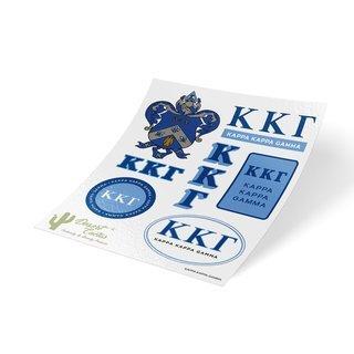 Kappa Kappa Gamma Traditional Sticker Sheet
