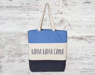 Kappa Kappa Gamma Tri Color Tote Bag