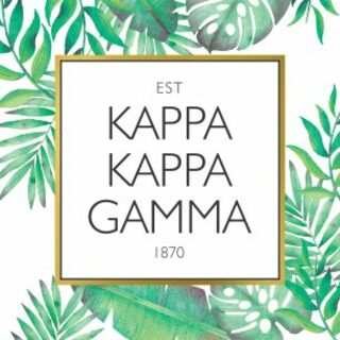 Kappa Kappa Gamma Tropical Sticker Decal
