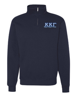 Kappa Kappa Gamma Twill Greek Lettered Quarter zip