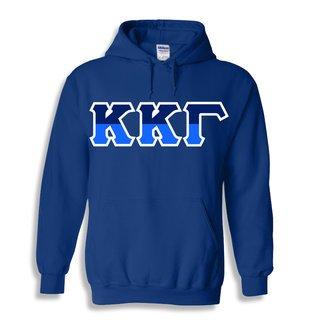 Kappa Kappa Gamma Two Tone Greek Lettered Hooded Sweatshirt
