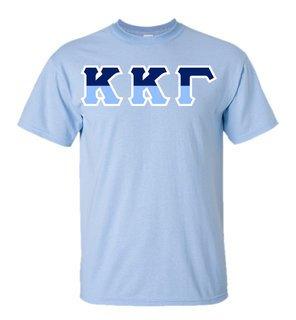 Kappa Kappa Gamma Two Tone Greek Lettered T-Shirt
