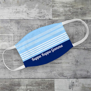 Kappa Kappa Gamma Two Tone Stripes Face Mask