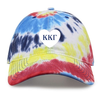Kappa Kappa Gamma Tye Die Heart Hat