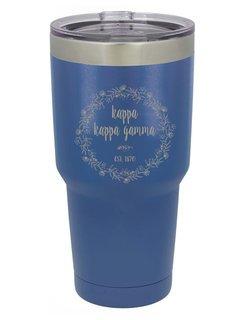 Kappa Kappa Gamma Vacuum Insulated Floral Tumbler