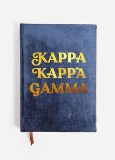 Kappa Kappa Gamma Velvet Notebook