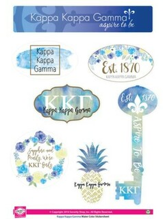 Kappa Kappa Gamma Water Color Stickers