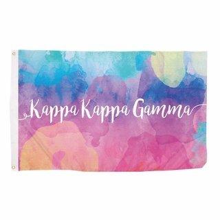Kappa Kappa Gamma Watercolor Flag