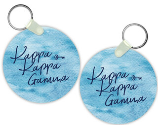 Kappa Kappa Gamma Watercolor Motto Keychain
